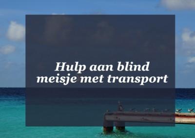 SKS biedt hulp aan blind meisje met transport