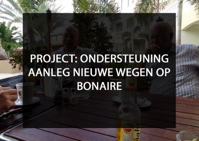 Aanleg nieuwe wegen op Bonaire